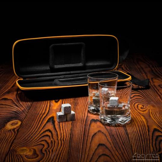 Zestaw Miłośnika Whisky - Szklanki + Kamienie + Etui