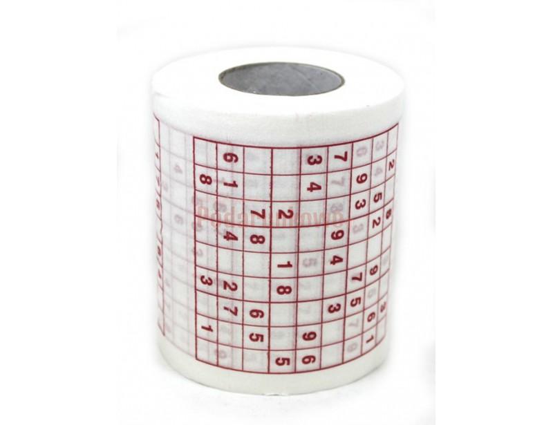 Od teraz spędzając czas w toalecie możesz szkolić się w rozwiązywaniu sudoku, bo prezentowany przez nas papier w całości zadrukowany jest tymi łamigówkami.