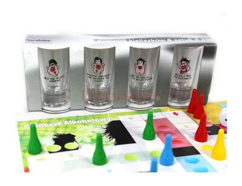 Potrzebujsze szybko rozkręcić imprezę? Mamy dla Ciebie zestaw 3 gier alkoholowych: Alkochińczyk, Rozbierany Alkochińczyk oraz Chińczyk Alkoholowy.