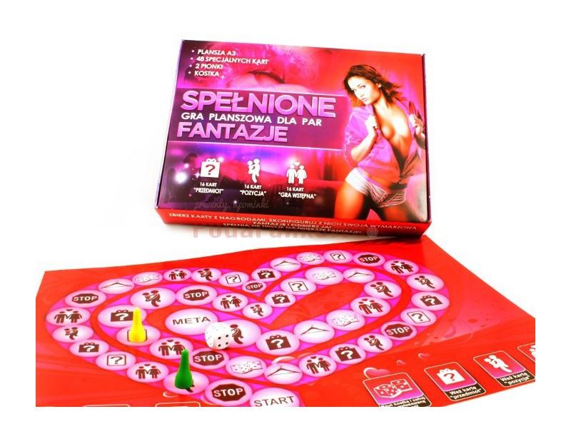 Erotyczna gra dla par, która pozwala spełniać najśmielsze fantazje :) To idealny prezent na wieczór panieński, kawalerski lub na walentynki :)