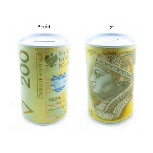 Puszka skarbonka - 200 złotych SP034