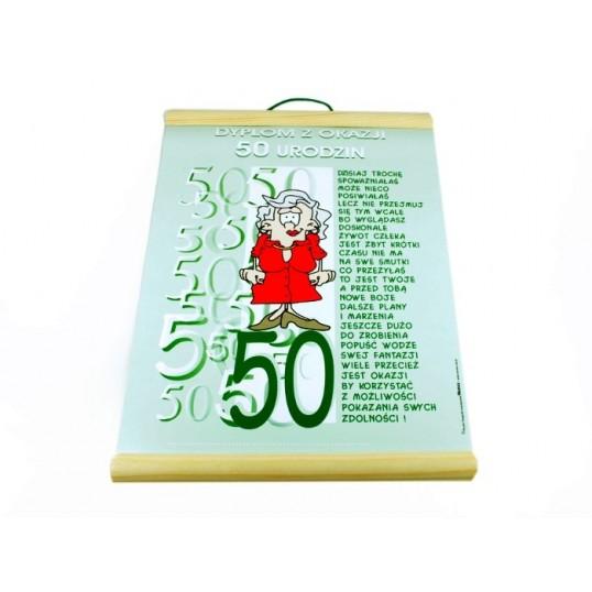 Dyplom - Z okazji 50 urodzin (dla niej)