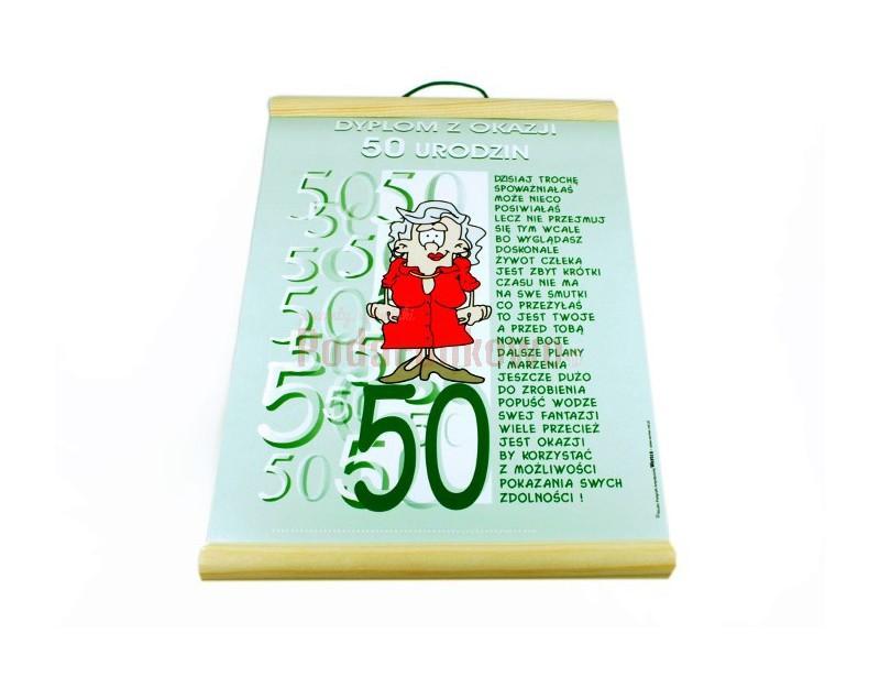 Dyplom Z Okazji 50 Urodzin Dla Niej Prezenty Upominki Podarunkowopl