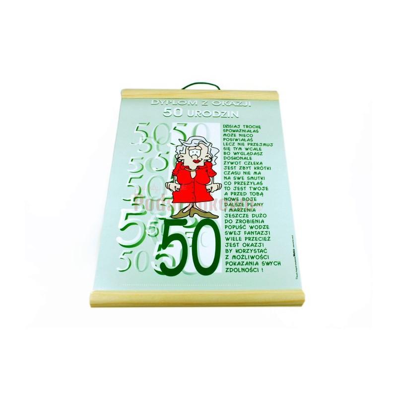 Dyplom Z Okazji 50 Urodzin Dla Niej Prezenty Upominki