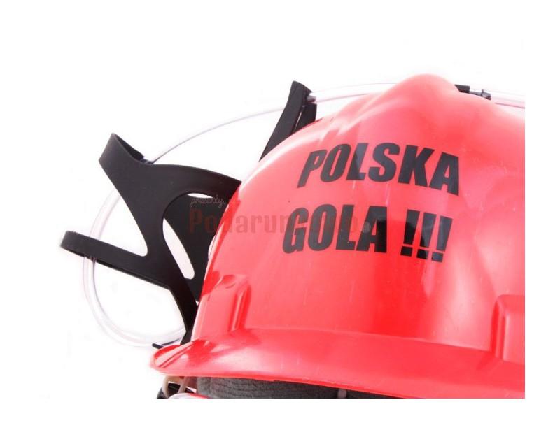 Imprezowy kask na piwo - Polska Gola!!!