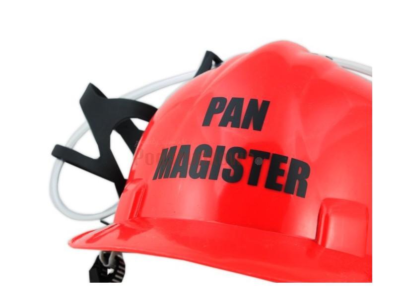 Imprezowy kask na piwo - Pan Magister