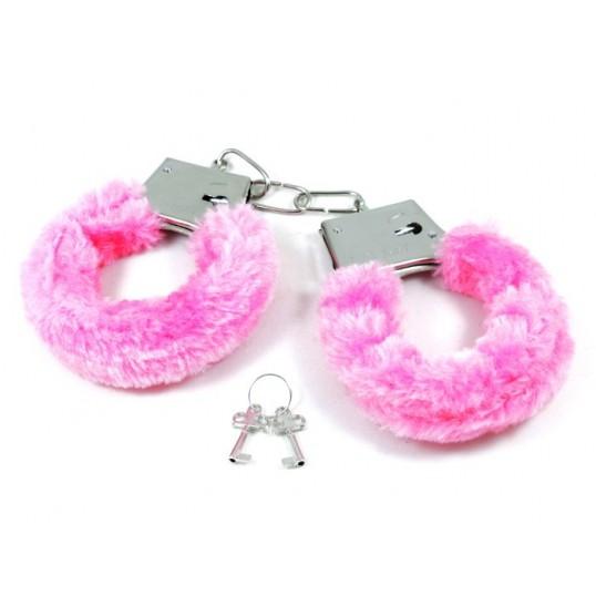 Kajdanki z różowym futerkiem