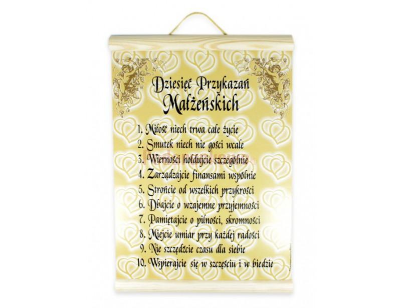Dyplom 10 przykazań małżeńskich