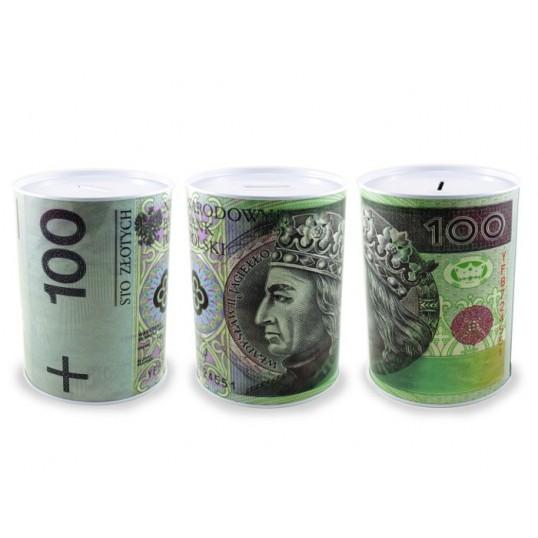 Duża puszka skarbonka - 100 złotych SP033