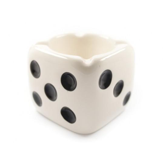Popielniczka - kostka biała