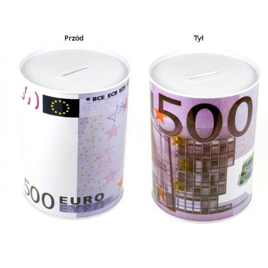 Duża puszka skarbonka - 500 euro SP037
