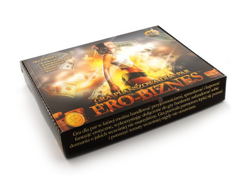 Erobiznes to gra erotyczna dla par, w której można handlować przyjemnościami, sprzedawać i kupować fantazje erotyczne.