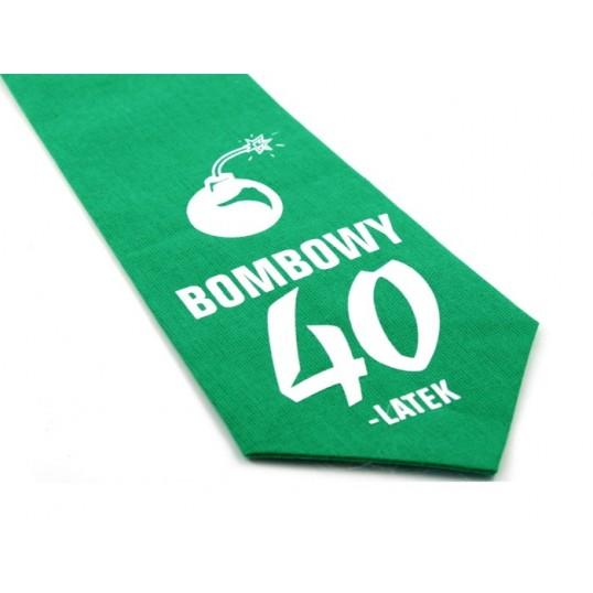 Krawat z humorem - Bombowy 40-stolatek (zielony)
