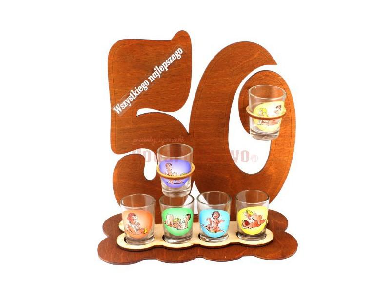 Oryginalny, ozdobny stojak na 50-tkę będzie świetnym upominkiem na okrągłe, jedyne w swoim rodzaju 50-te urodziny :)