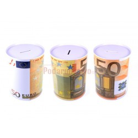 Duża puszka skarbonka - 50 euro