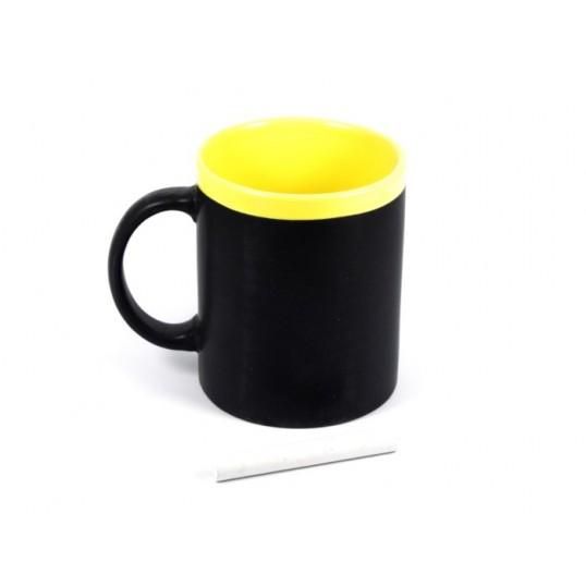 Kubek Memo z kredą (żółty)