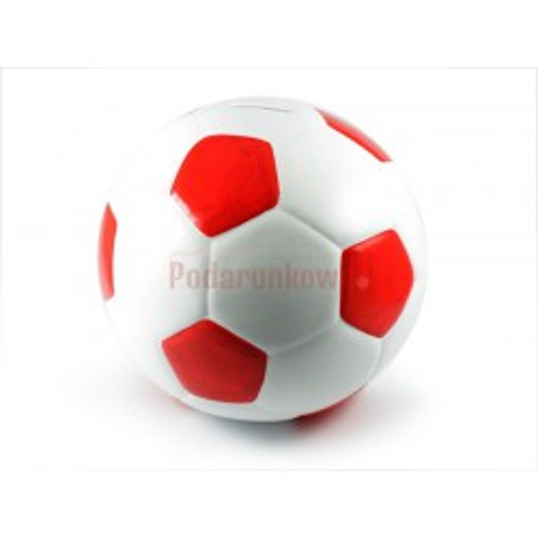 Skarbonka Piłka biało-czerwona (duża)