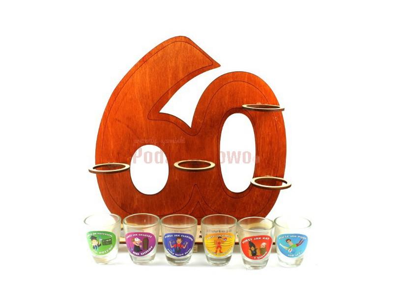 Super upominek na 60 urodziny! Pełni funkcję praktycznego stojaka na kieliszki oraz pamiątkowego gadżetu z urodzinowej imprezy :)