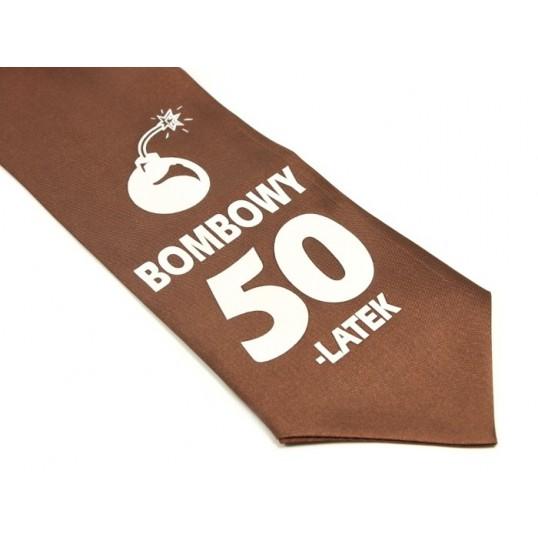 Krawat z humorem - Bombowy 50-latek