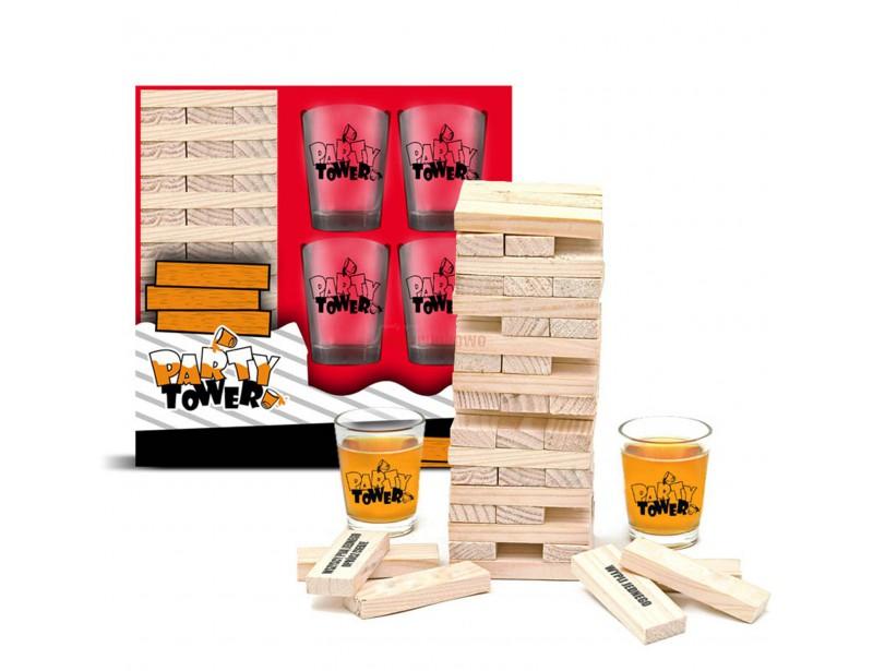 To alkoholowa wersja znanej i lubianej gry Jenga. Super zabawa przy układaniu wieży - gwarantowana!