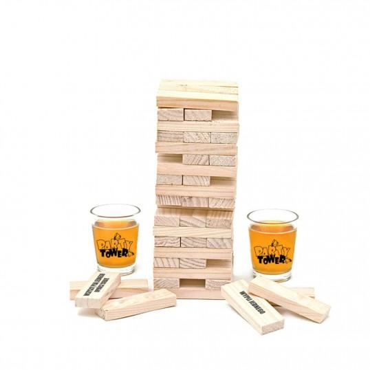 Imprezowa wieża - alkoholowa Jenga