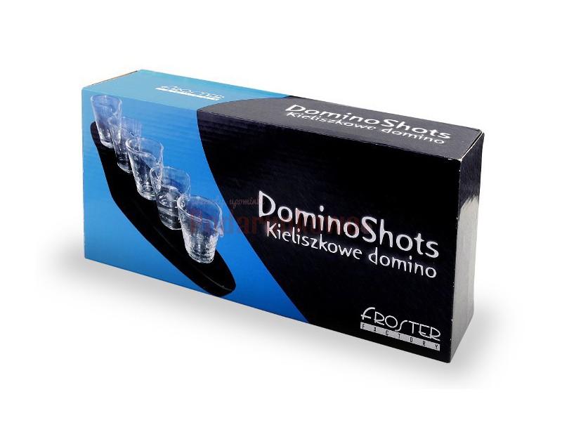 Domino Shots Deluxe to zestaw wyjątkowych kieliszków, które uczynią z Ciebie najlepszego barmana i zapewnią wszystkim doskonałą zabawę.