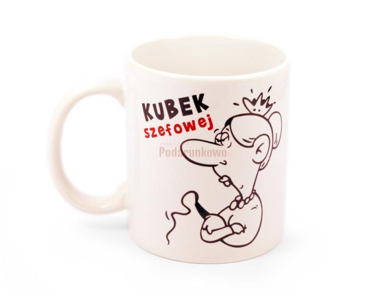 Szukasz prezentu dla szefowej? Jeżeli Twoja przełożona lubi do czasu do czasu napić się kawy bądź herbaty, to mamy dla niej idealny prezent - KUBEK SUPER SZEFOWEJ.