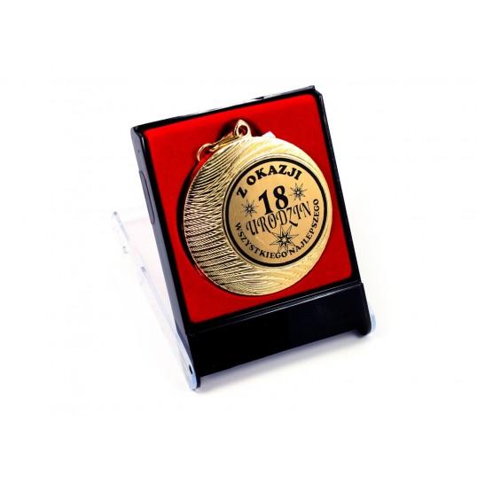 Medal z okazji 18-stych urodzin