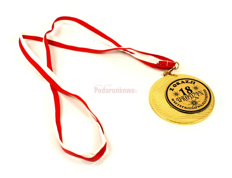 Ten oryginalny medal z pewnością będzie świetnym pomysłem na prezent z okazji 18-stych urodzin :)