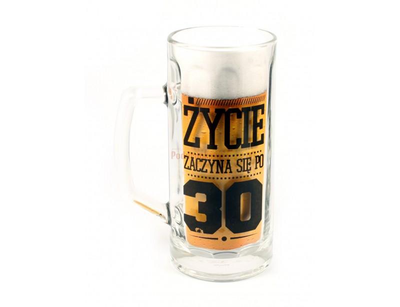 Oryginalny, elegancki kufel wykonany z grubego i solidnego szkła, będzie doskonałym prezentem dla każdego miłośnika i smakosza piwa.