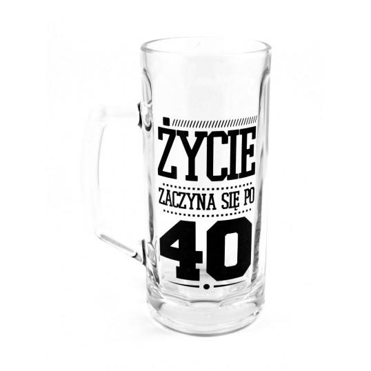Kufel na piwo - Życie zaczyna się po 40-stce
