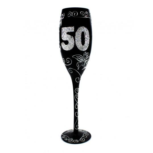 Kieliszek do szampana - Na 50 urodziny