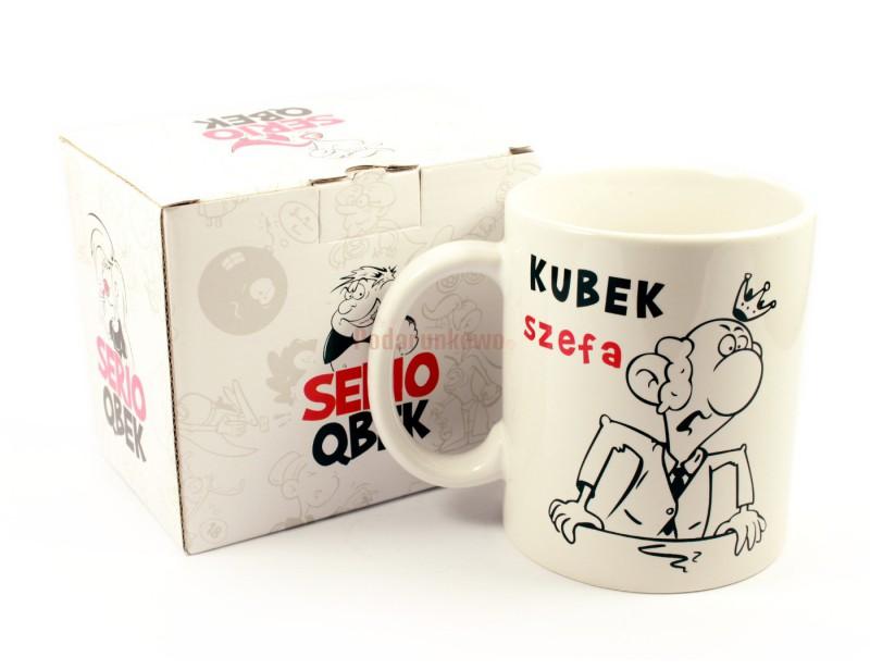 Szukasz prezentu dla szefa? Jeżeli Twój przełożony lubi do czasu do czasu napić się kawy bądź herbaty, to mamy dla niego idealny prezent - KUBEK SZEFA