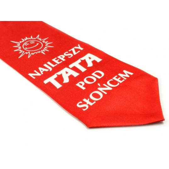 Krawat z humorem - Najlepszy Tata pod słońcem