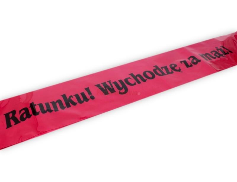 Elegancka, różowa szarfa na wieczór panieński to świetny pomysł na oznaczenie przyszłej panny młodej :)