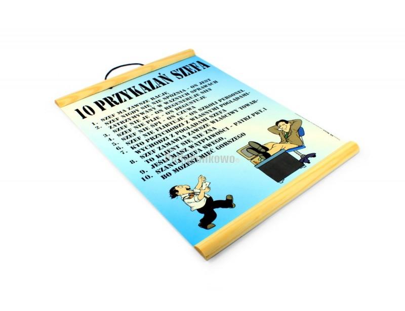 Dyplom 10 przykazań szefa