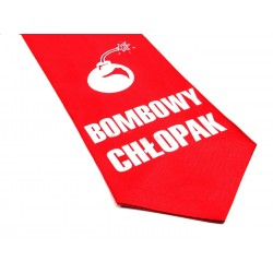 Krawat z humorem - Bombowy chłopak