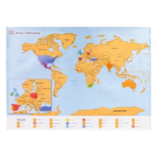 Mapa zdrapka Odkrywcy - Świat