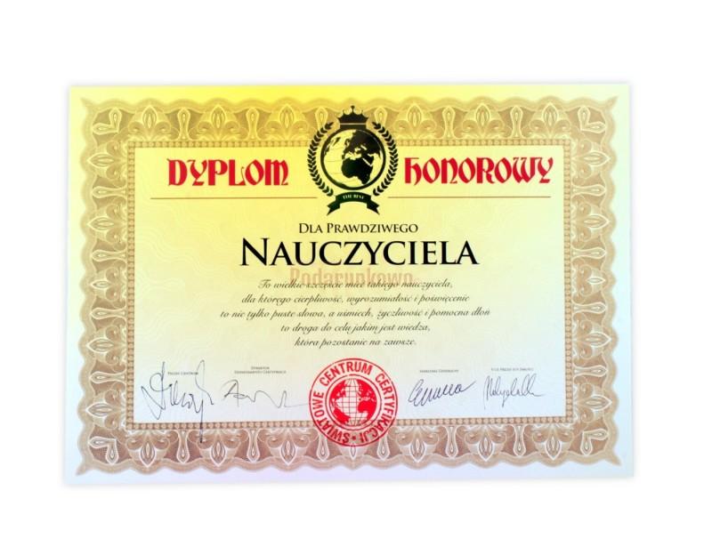Dyplom dla Prawdziwego Nauczyciela