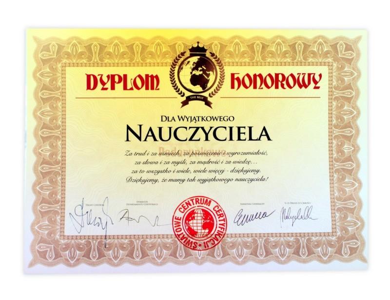 Dyplom dla Wyjątkowego Nauczyciela