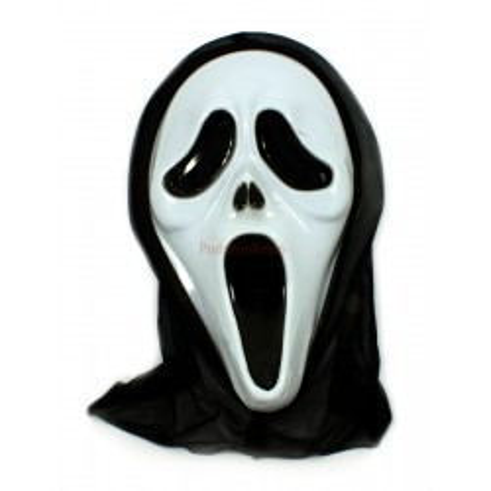 Maska z kapturem z filmu Krzyk