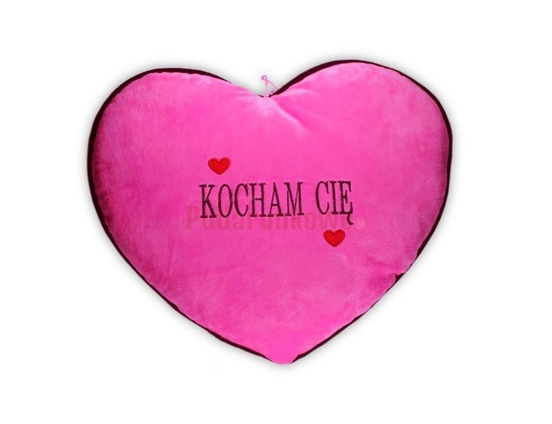 Duża Poduszka Serce - Kocham Cię (rózowa)