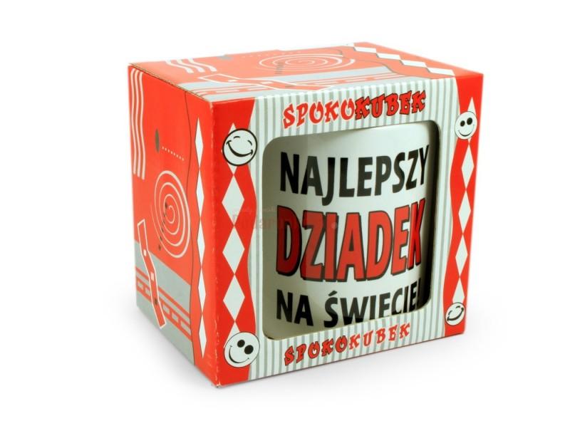 Prezentowany kubek jest bardzo ładnym i pomysłowym upominkiem dla każdego dziadka.
