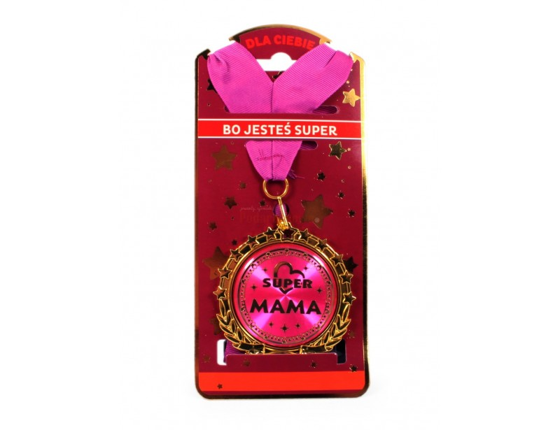 Jeśli chcesz obdarować swoją mamę wyjątkowym prezentem, spraw jej radość wręczając medal super mamy :)