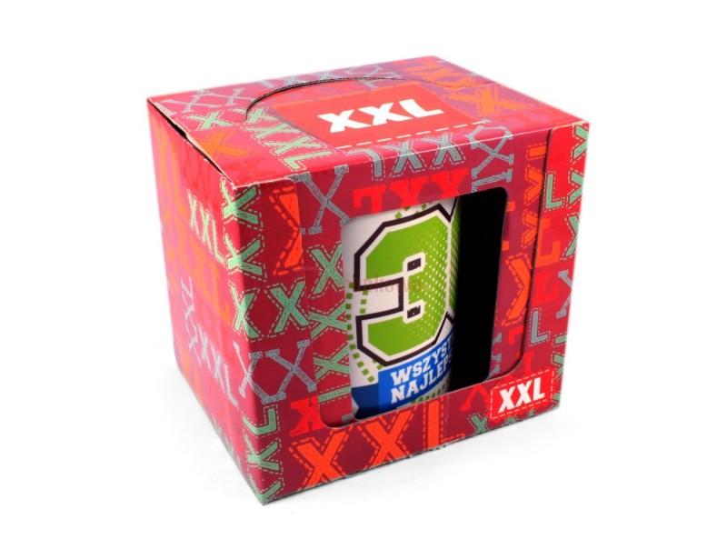 Jeżeli zwykły kubek to dla Ciebie za mało wybierz MEGA wielki kubek niezwykłych rozmiarów. Pojemność kubka wynosi 0,8 litra. Idealny prezent na 30stkę!