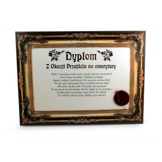 Certyfikat - Dyplom z okazji Przejścia na emeryturę