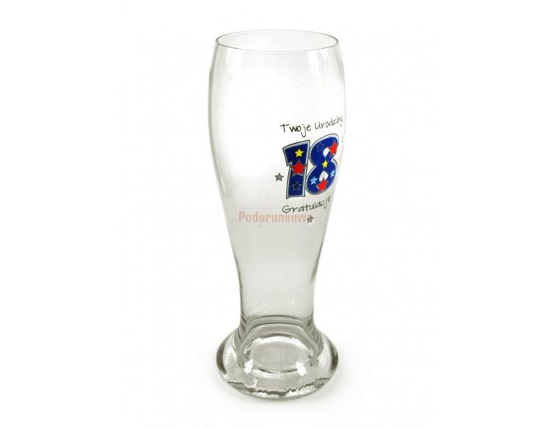 Szklanka do piwa XXL - 18 urodziny (700ml)