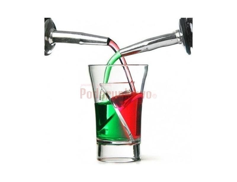 Oryginalne kieliszki z zakręconą przegrodą - idealne do mini koktajli. Zmiksuj dwa ulubione trunki w twister shocie i zaskocz innych efektownym drinkiem.