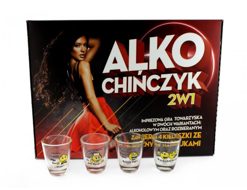 Przedstawiamy zestaw 2 gier alkoholowych: Alkochińczyk oraz Alkochińczyk Rozbierany.