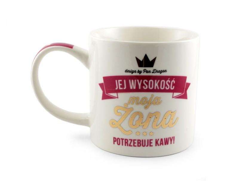 Elegancki, praktyczny i pomysłowy prezent dla szczególnej żony :) Kubek Royal charakteryzuje się wysoką jakością wykonania, elegancką grafiką i ładnym opakowaniem.